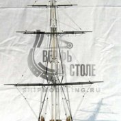 USS Constitution сечение масштаб 1:75